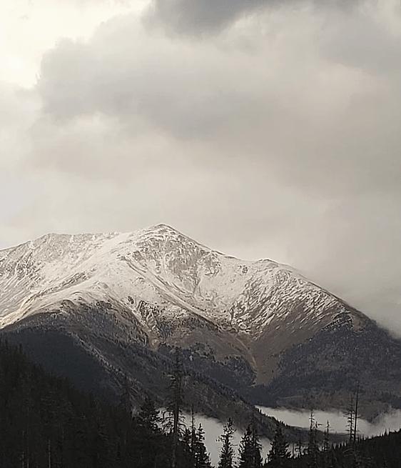 Mountain Snow, Valley Fog
