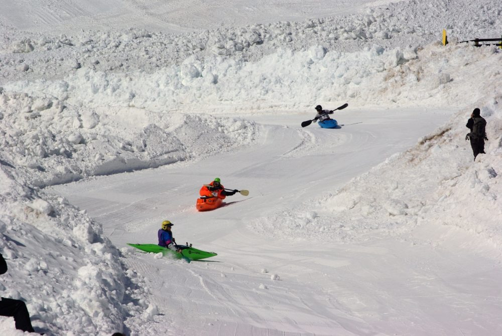 Kayaks On Snow