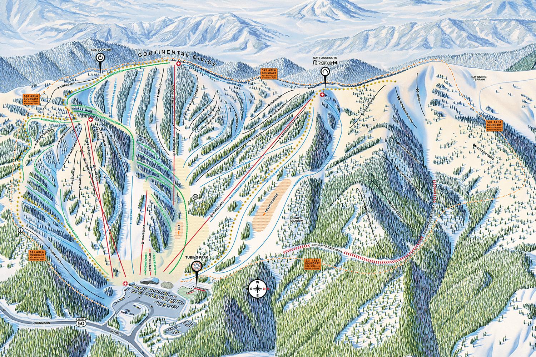 Mountain Maps - Monarch Mountain