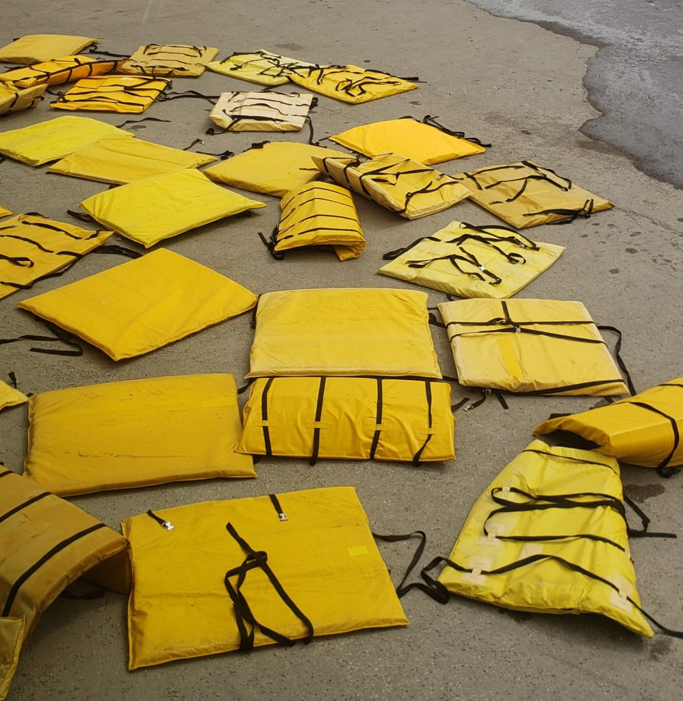 Yellow tower pads