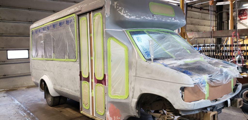 Old bus paint