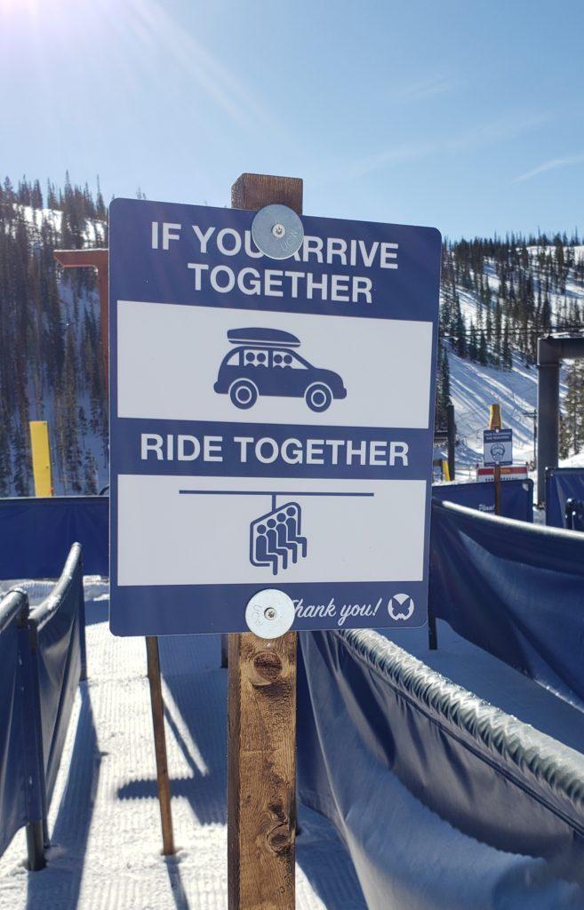 If you arrive together, ride together.