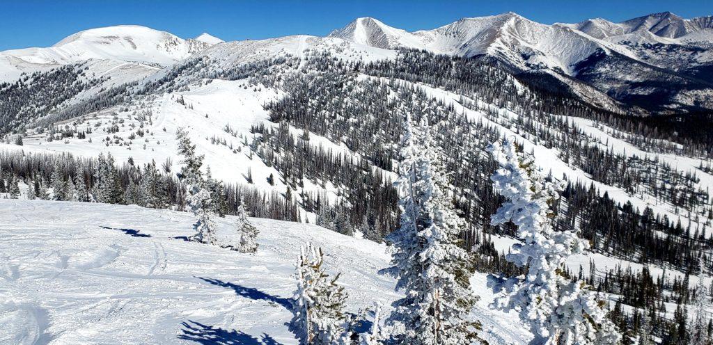 Colorado bluebird skies and powder snow